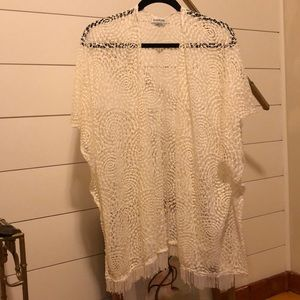 White Lace Cover Up Shall